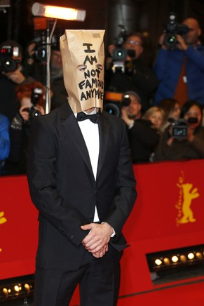 Actor Shia LaBeouf poses for photographers on the red carpet for the film Nymphomaniac at the International Film Festival Berlinale in Berlin, Sunday, Feb. 9, 2014. (Photo by Joel Ryan/Invision/AP)