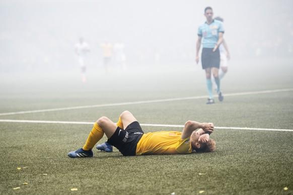 YBs Miralem Sulejmani reagiert im Schweizer Fussball Cupfinalspiel zwischen den Berner Young Boys und dem FC Zuerich, am Sonntag 27. Mai 2018, im Stade de Suisse in Bern. (KEYSTONE/Ennio Leanza)