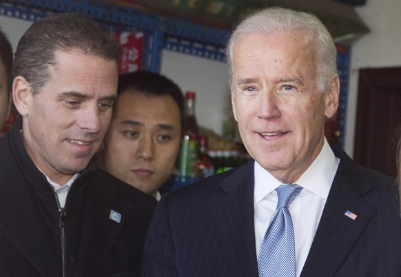 Joe Biden mit Sohn Hunter.