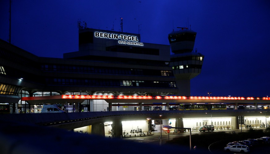 A general view of Tegel airport during a warning strike by ground services, security inspection and check-in staff in Berlin, Germany, March 10, 2017. REUTERS/Hannibal Hanschke