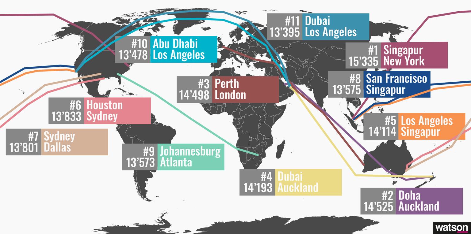 Singapur bis New York: Das ist der neue längste Nonstop-Flug der ...