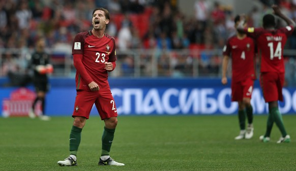 epa06061901 Portugal's Adrien Silva reacts after winning the FIFA Confederations Cup third place match at Spartak Stadium, in Moscow, Russia, 02 July 2017.  EPA/MARIO CRUZ