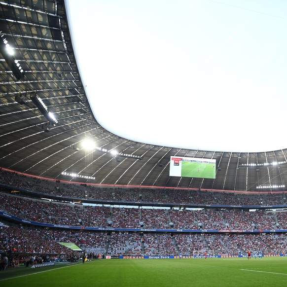 epa06121436 General view of Allianz Arena prior to the Audi Cup third place match FC Bayern Munich vs. SSC Napoli in Munich, Germany, 02 August 2017.  EPA/CHRISTIAN BRUNA