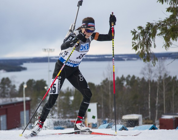 06.12.2015; Oestersund; Biathlon - Weltcup Oestersund 2015 - Verfolgung Frauen; Aita Gasparin (SUI) (Christian Manzoni/NordicFocus/freshfocus)