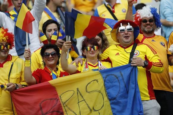 Football Soccer - France v Romania - EURO 2016 - Group A - Stade de France, Saint-Denis near Paris, France - 10/6/16 Romania fans before the match REUTERS/Darren Staples Livepic