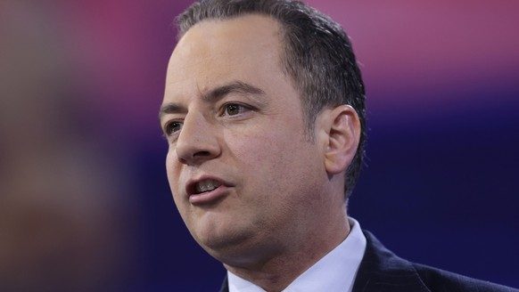 "In this photo taken March 4, 2016, Republican National Committee (RNC) Chairman Reince Priebus speaks in National Harbor, Md. Donald Trump says he was really surprised by House Speaker Paul Ryan's rebuff of him as the presumptive Republican presidential nominee. But GOP chief Reince Priebus says he understands Ryan's reservations. ""It's going to take some time in some cases for people to work through differences,"" Priebus says. Priebus says he disagrees with Trump on some issues such as banning Muslims from entering the U.S(AP Photo/Carolyn Kaster)"