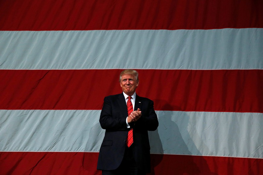 Republican U.S. presidential nominee Donald Trump attends a campaign rally at Crown Arena in Fayetteville, North Carolina August 9, 2016. REUTERS/Eric Thayer