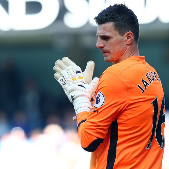 epa05897172 Hull City's Eldin Jakupovic during the English Premier League soccer match between Manchester City and Hull City at the Etihad Stadium in Manchester, Britain, 08 April 2017.  EPA/TIM KEETON EDITORIAL USE ONLY. No use with unauthorized audio, video, data, fixture lists, club/league logos or 'live' services. Online in-match use limited to 75 images, no video emulation. No use in betting, games or single club/league/player publications.