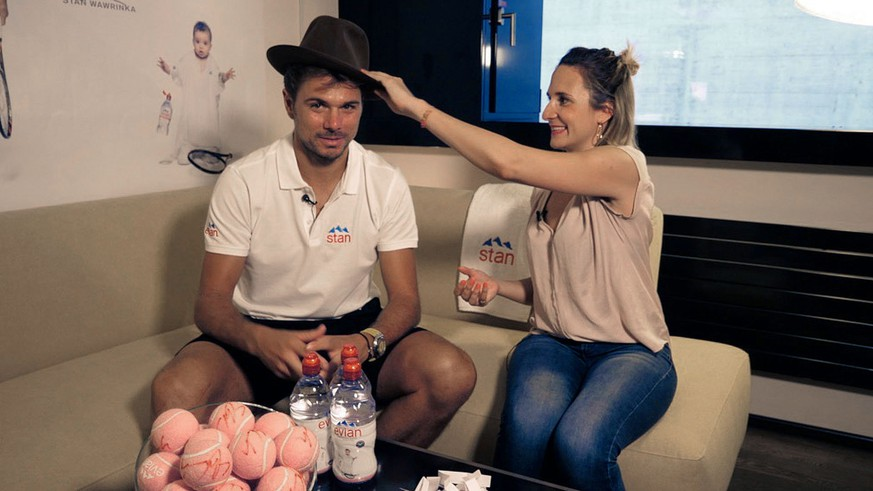 Stan Wawrinka im Hut-Interview