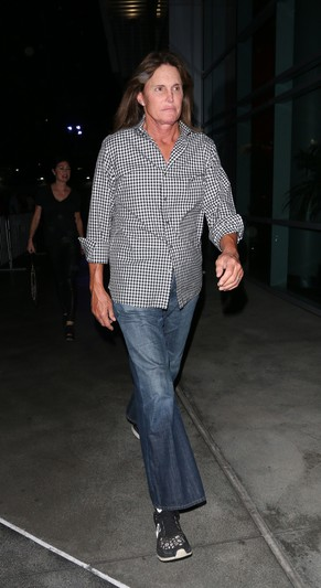 Bruce Jenner running away after Elton John Concert at Staple Center in Los Angeles on October 4, 2014.