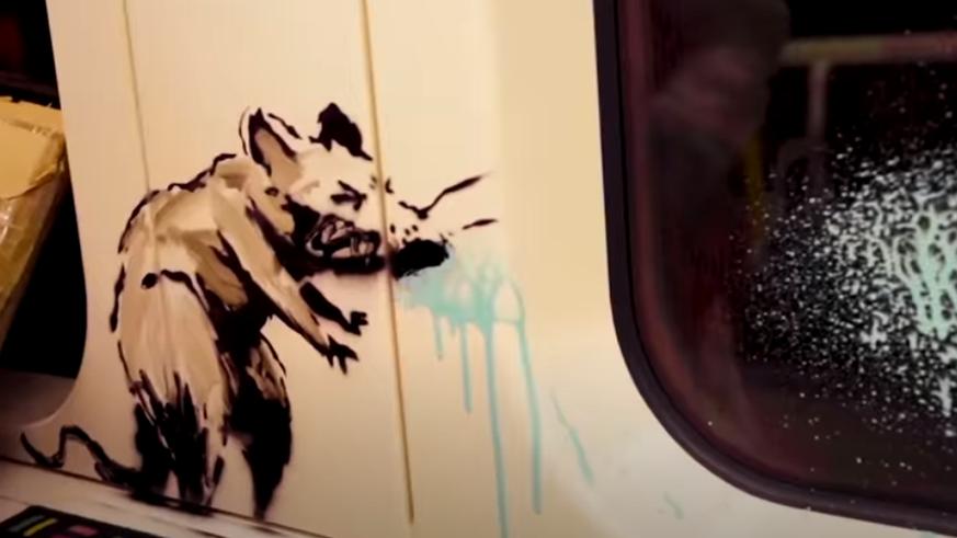 Banksy sprayt in Londoner U-Bahn: «Wenn du keine Maske trägst, kapierst du es nicht»