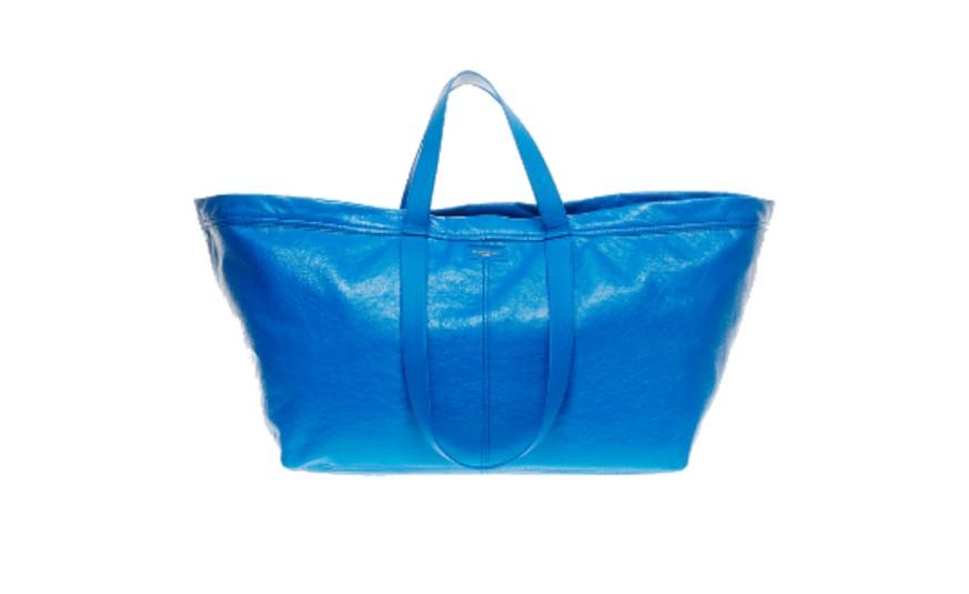 Links Die Tasche Von «Balenciaga», Rechts Das Ikea Original.