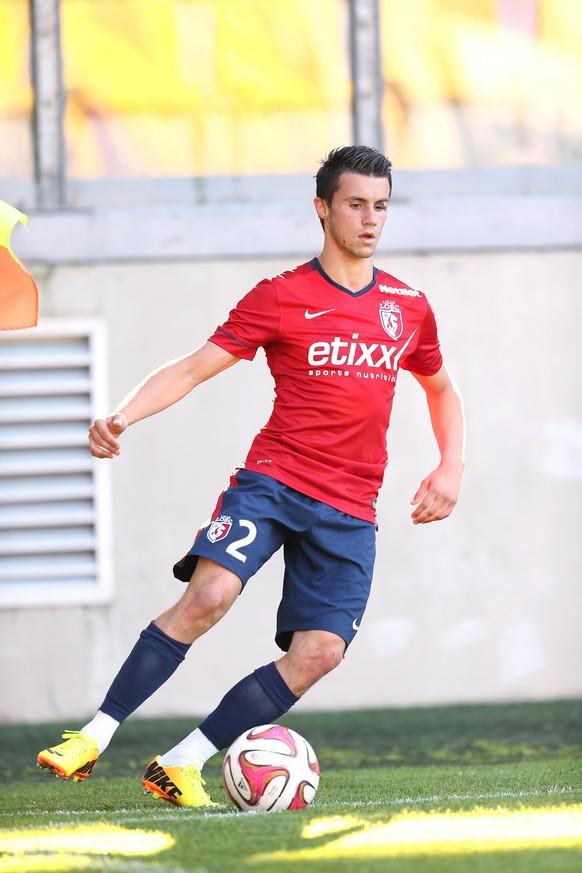 16.07.2014; Calais; Fussball Freundschaftsspiel - OSC Lille - Courtrai;Sebastien Corchia (Lille) (Laurent Argueyrolles/Presse Sports/freshfocus)