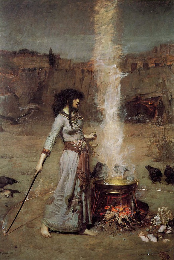 John William Waterhouse «Magic Circle» 1886, Hexe Witch