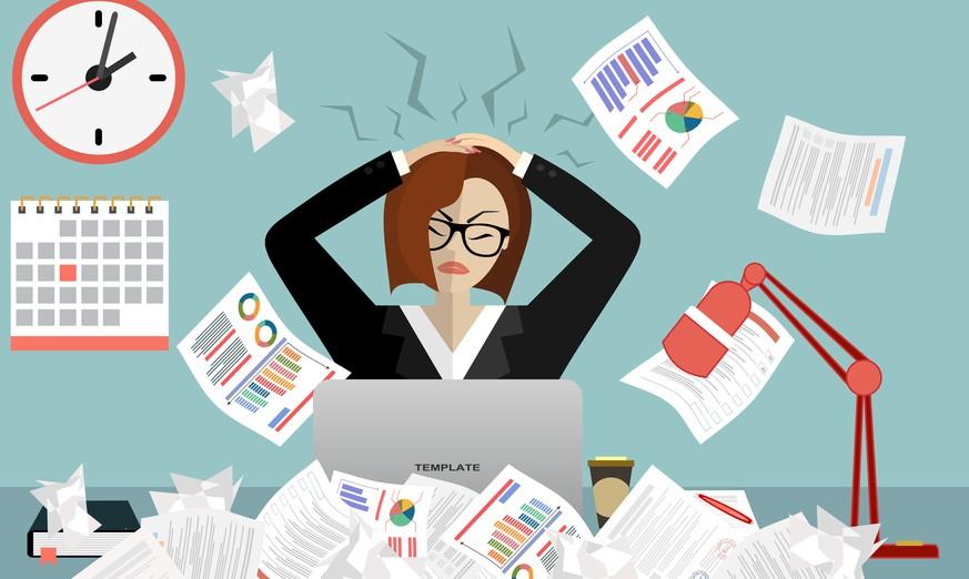 Umfrage zur Arbeit: 21 Prozent der Erwerbstätigen leiden unter Stress
