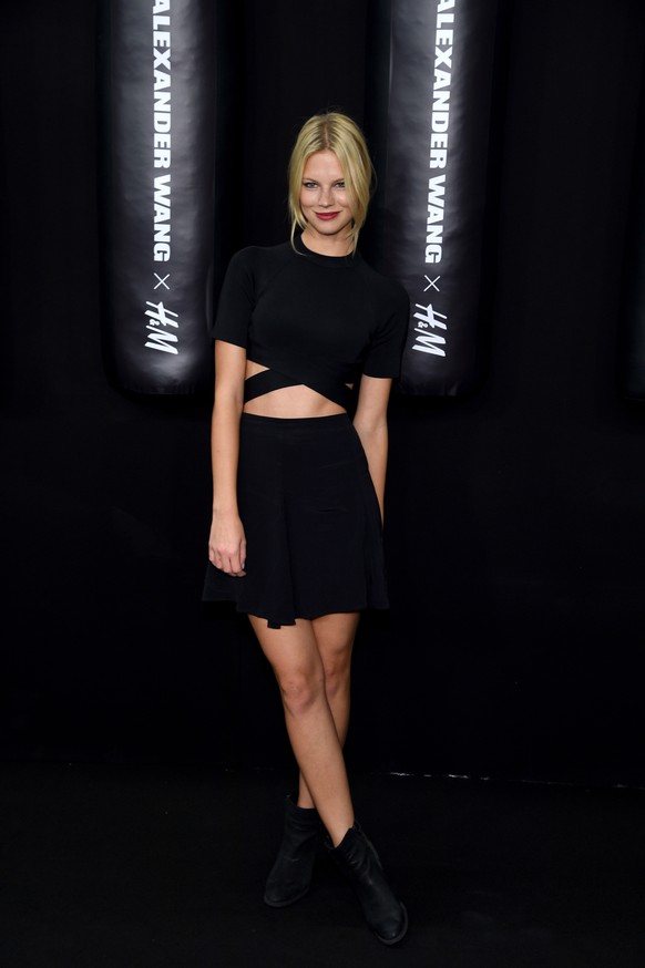 NEW YORK, NY - OCTOBER 16:  Model Nadine Leopold attends the Alexander Wang X H&M Launch on October 16, 2014 in New York City.  (Photo by Dimitrios Kambouris/Getty Images for H&M)