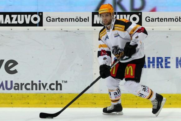 10.10.2014; Kloten; Eishockey NLA - Kloten Flyers - HC Lugano; Fredrik Pettersson (Lugano) (Patrick Straub/freshfocus)