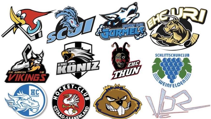 Welches Schweizer Amateur-Eishockeyteam hat das beste Logo?