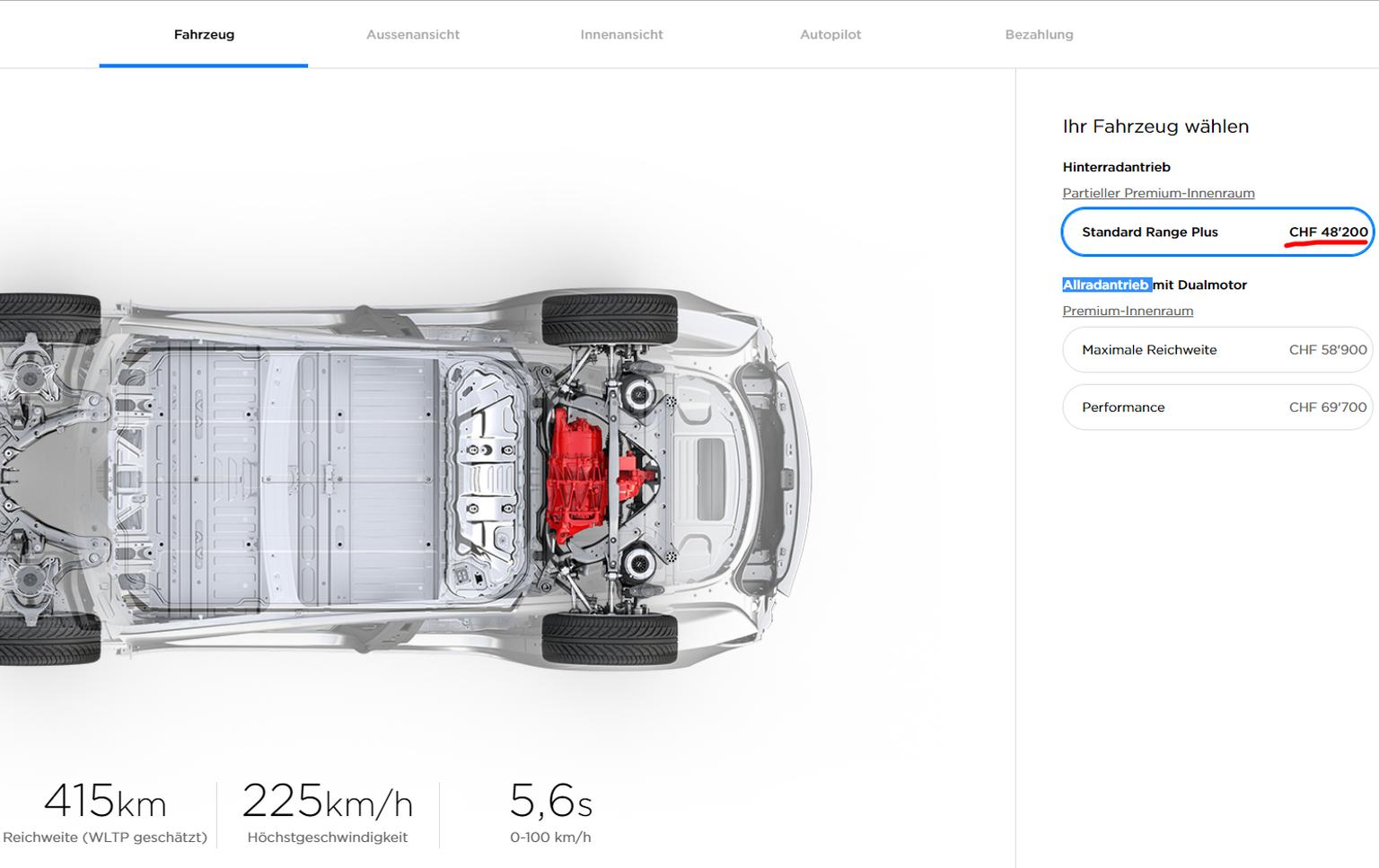 Tesla nimmt Model 3 für 35.000 Dollar wieder aus Online-Angebot