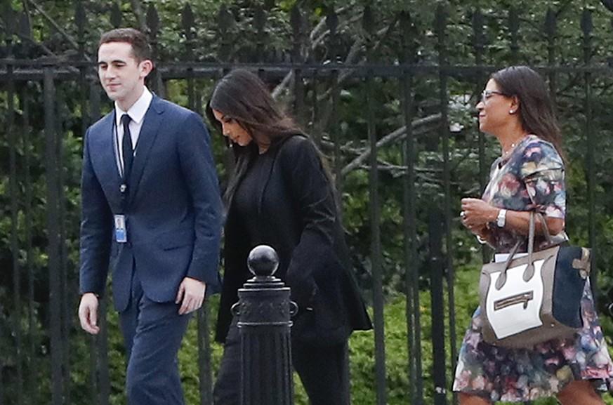 Kim Kardashian besucht Donald Trump im Weißen Haus