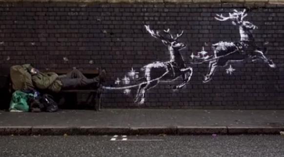 Banksy: Neues Kunstwerk mit einer Botschaft zu Weihnachten