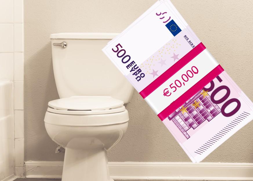 geld genfer toiletten mit 500 euro scheinen verstopft. Black Bedroom Furniture Sets. Home Design Ideas
