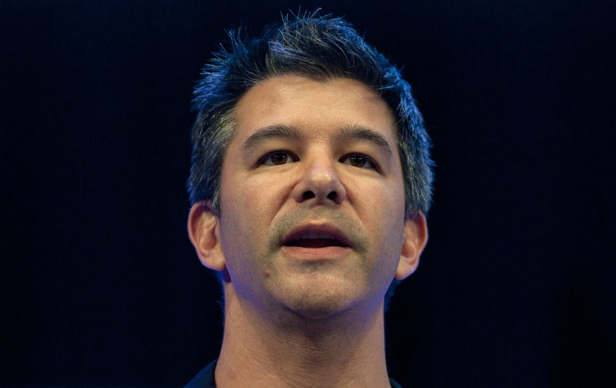 epa06040287 (FILE) - Travis Kalanick, Founder and CEO of Uber, delivers a speech at the Institute of Directors Convention at the Royal Albert Hall, Central London, Britain, 03 October 2014 (reissued 21 June 2017). According to reports on 21 June 2017, Kalanick has resigned as CEO of Uber amid pressure from shareholders.  EPA/WILL OLIVER