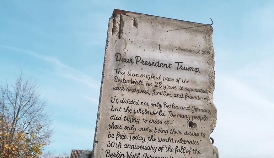 Dear President Trump...  screenshot Youtube