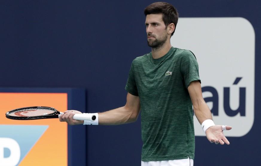 Djokovic erklärt seine Niederlage mit dem Konflikt mit Federer und Nadal