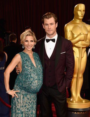 FILE - MARCH 21: Actors Elsa Pataky and Chris Hemsworth welcome twin boys March 21, 2014 in Los Angeles, California. HOLLYWOOD, CA - MARCH 02:  Actors Elsa Pataky (L) and Chris Hemsworth attends the Oscars held at Hollywood & Highland Center on March 2, 2014 in Hollywood, California.  (Photo by Frazer Harrison/Getty Images)