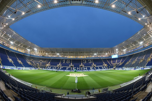 SINSHEIM, GERMANY - NOVEMBER 29:  General view of the Wirsol Rhein-Neckar Arena prior to the Bundesliga match between 1899 Hoffenheim and Hannover 96 at Wirsol Rhein-Neckar-Arena on November 29, 2014 in Sinsheim, Germany.  (Photo by Matthias Hangst/Bongarts/Getty Images)