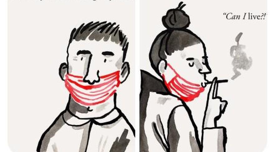 Wie Schweizer Masken tragen ...