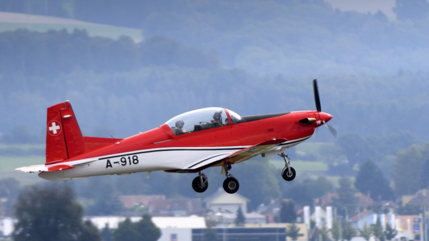 Die PC-7-Kunstflugstaffel.