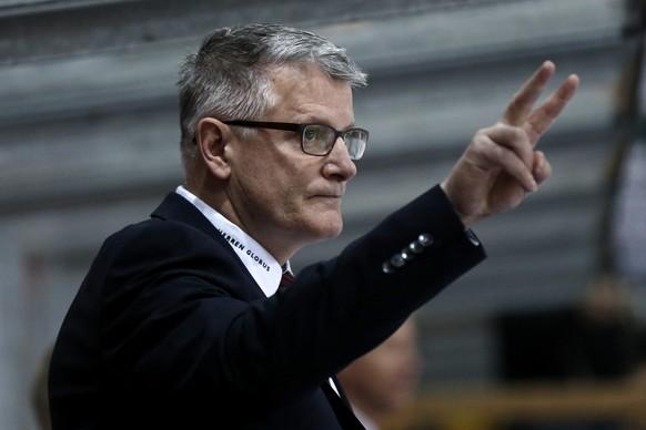 03.03.2015; Biel: Eishockey NLA Playoff - EHC Biel - ZSC Lions: Trainer Marc Crawford (ZSC)(Christian Pfander/freshfocus)