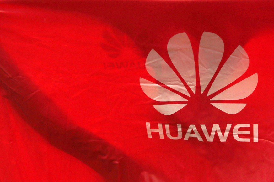 epa07630610 Huawei logos are displayed in a raincoat in Phnom Penh, Cambodia, 06 June 2019. According to local media, Huawei smartphone sales have dropped in the capital's retail shop for more than a week following Google's decision to cut off its business ties with the Chinese tech giant  EPA/KITH SEREY