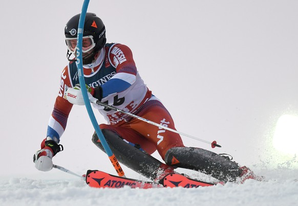 epa07362163 Ivan Kuznetsov of Russia in action during the Men's Alpine Combined Slalom race at the FIS Alpine Skiing World Championships in Are, Sweden, 11 February 2019.  EPA/CHRISTIAN BRUNA