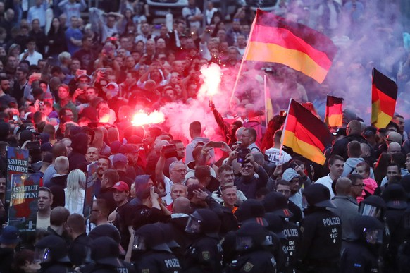 DEUTSCHLAND MESSERSTECHEREI CHEMNITZ PROTEST