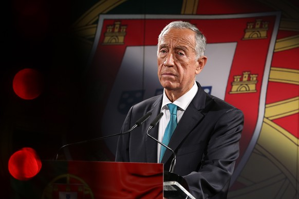 epa08868797 Portugal's President Marcelo Rebelo de Sousa, during the announcement of his decision to  run again for Portugal's Head of State in the elections of 24 January 2021, in Lisbon, Portugal, 07 December 2020. Almost 72 years old, on 12 December, Marcelo Rebelo de Sousa was elected President of the Republic in the first round of elections on 24 January 2016, with 52% of the vote.  EPA/MANUEL DE ALMEIDA / POOL