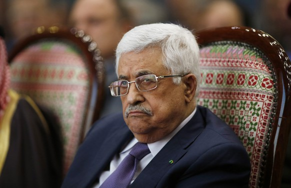 Palestinian President Mahmoud Abbas attends the opening ceremony of the