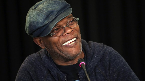 epa07231238 (FILE) - US actor Samuel L. Jackson smiles as he attends a press conference on 'Kong: Skull Island' movie in Hanoi, Vietnam 21 February 2016 (reissued 14 December 2018). Samuel L. Jackson turns 70 on 21 December 2018.  EPA/LUONG THAI LINH *** Local Caption *** 52602042