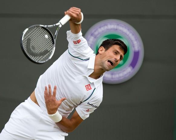 07.07.2015; Wimbledon; Tennis - Wimbledon 2015;Novak Djokovic (SRB)(Juergen Hasenkopf/freshfocus)