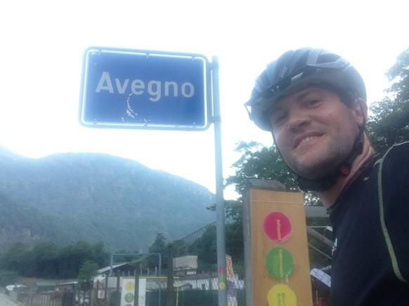Angefangen hatte die 17. Etappe in Intragna. Von wo ich ins Maggia-Tal abbiege und notiere Gemeinde 185 der 2324: Avegno.