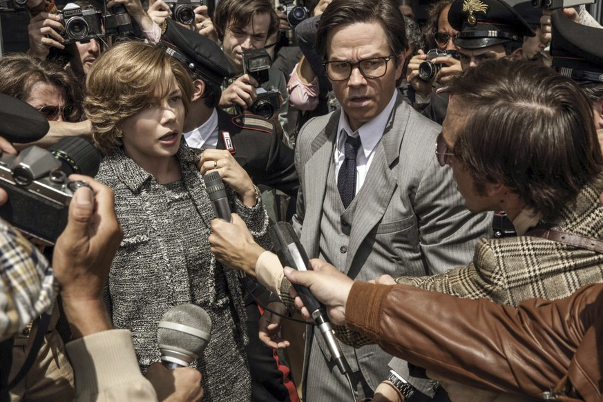 This image released by Sony Pictures shows Michelle Williams, left, and Mark Wahlberg star in TriStar Pictures'