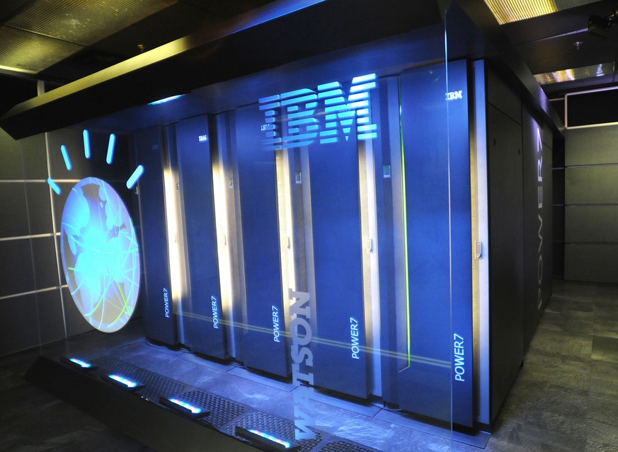 This undated photo provided by International Business Machines Corporation (IBM) shows Watson, powered by IBM POWER7, is a work-load optimized system that can answer questions posed in natural language over a nearly unlimited range of knowledge.(AP Photo/IBM Corporation)