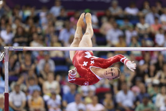 Giulia Steingruber, SUI, during qualification and team final of 2015 European Games in Baku; 14/06/2015; Foto: SCHREYER (EQ Images) SWITZERLAND ONLY