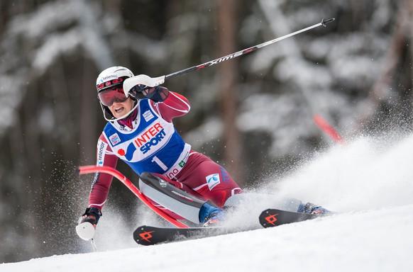 05.01.2015; Santa Caterina; Ski alpin - Slalom Frauen; Nina Loeseth (NOR)(Johann Groder/Expa/freshfocus)