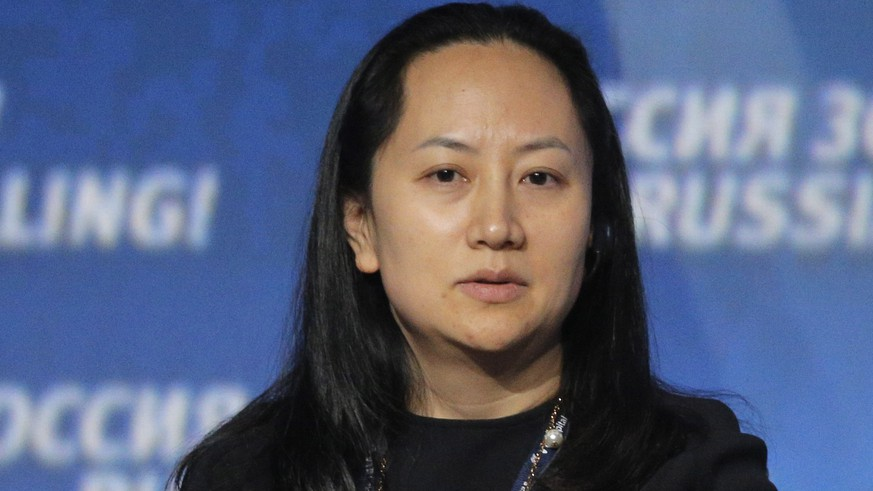 epa07211367 (FILE) - Meng Wanzhou, Chief Financial Officer of Huawei, attends the VTB Capital's 'RUSSIA CALLING' investment forum in Moscow, Russia, 02 October 2014 (reissued 06 December 2018). Meng Wanzhou has been arrested in Canada at the request of US authorities. According to US media reports, Meng Wanzhou was detained for potential US sanction violations.  EPA/MAXIM SHIPENKOV