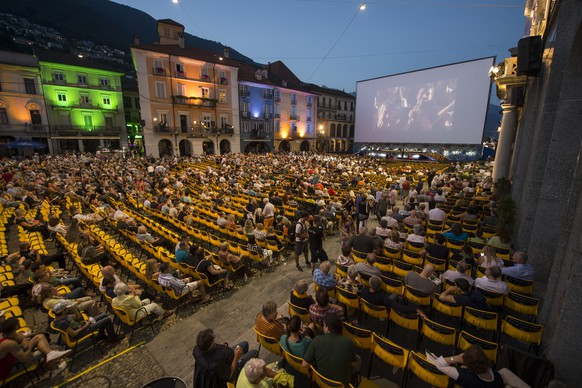 General view of the Piazza Grande Square of Locarno at the Prefestival Night of the 68th Locarno International Film Festival, Tuesday, August 4, 2015, in Locarno, Switzerland. The festival runs from 5 to 15 August. (KEYSTONE/Urs Flueeler)