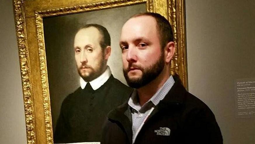 27 Menschen, die im Museum auf ihren gemalten Doppelgänger stiessen