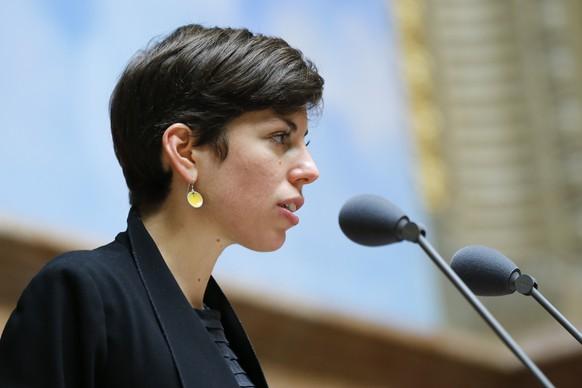 Lisa Mazzone (Gruene-GE) spricht waehrend einer Debatte im Nationalrat, waehrend der Herbstsession der Eidgenoessischen Raete, am Mittwoch, 13. September 2017 in Bern. (KEYSTONE/Peter Klaunzer)